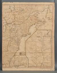 North America, Nova Scotia to Northern Florida. George-Louis e Rouge (1707-1790) Carte dUne Partie de lAmerique Septentrionale pour s