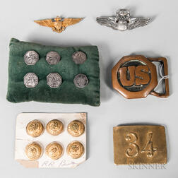 Group of Buttons and Medals