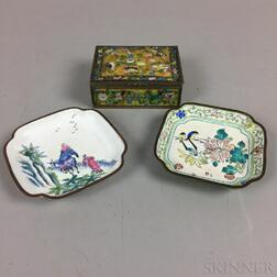 Enameled Dishes and Box