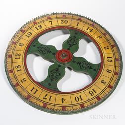 Paint-decorated Wooden Wheel of Chance