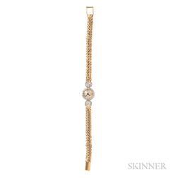 18kt Gold and Diamond Wristwatch, Cartier