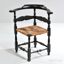Black-painted Roundabout Chair