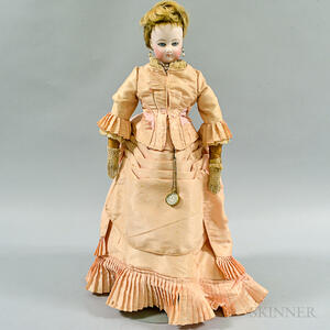 French Bisque Socket Head Doll