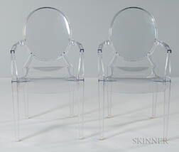 Two Philippe Starck Louis Ghost Chairs