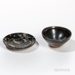 Two Jizhou-style Black-glazed Items