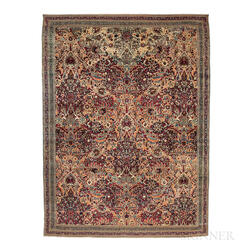 Antique Lavar Kerman Carpet