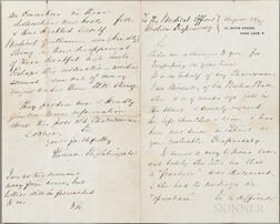 Nightingale, Florence (1820-1910) Autograph Letter Signed, 23 August 1887.