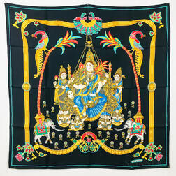 "Hermes ""India"" Silk Scarf"