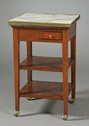French Directoire-style Mahogany Marble-top Washstand