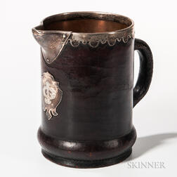 Gorham Leather-mounted Pitcher