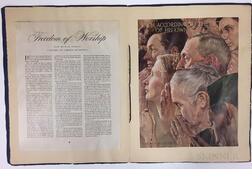 Rockwell, Norman (1894-1978) Signed Four Freedoms Poster Collection, 1943.