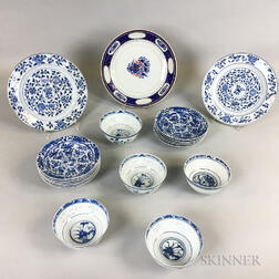Nineteen Export Ceramic Items