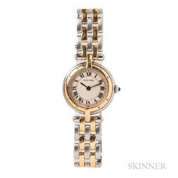 """Stainless Steel and Gold """"Panthere Vendome"""" Wristwatch, Cartier"""