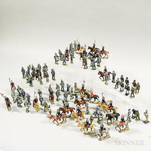 Large Group of Painted Lead Soldiers.