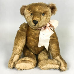 Early Blonde Mohair Teddy Bear