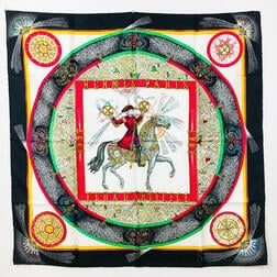 "Hermes ""Feux d'Artifice"" Silk Scarf"