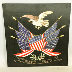 Chinese Export-style Patriotic Silk Embroidered Picture