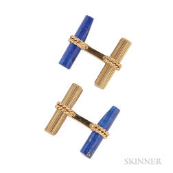 18kt Gold Interchangeable Hardstone Cuff Links, Van Cleef & Arpels