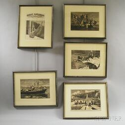 Five Framed Winslow Homer Engravings