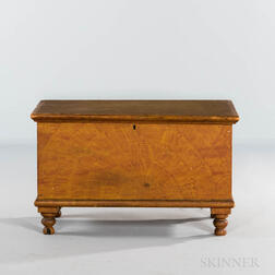 Small Paint-decorated Six-board Chest