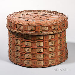 Large Native American Ash Splint Basket