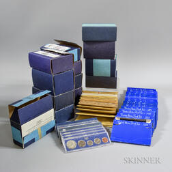 Approximately 184 Mint Sets from the 1960s-80s.     Estimate $200-400