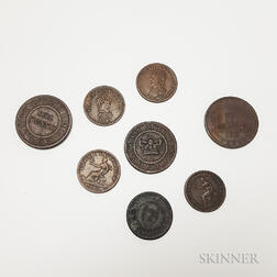 Eight Penny and Halfpenny Tokens