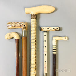 Five 19th Century Canes
