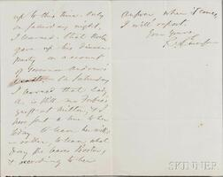 Emerson, Ralph Waldo (1803-1882) Autograph Letter Signed, 4 November [n.d., 1867?].