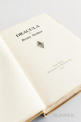 Stoker, Bram (1847-1912) Dracula  , First American Edition, Signed and Inscribed Copy.
