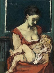Moses Soyer (American, 1899-1974)      Mother and Child