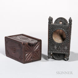 Chip-carved Watch Hutch Box and Slide-lid Box