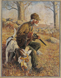 William Harnden Foster (American, 1886-1941)      Stolen Lunch/A Hunter and His Dog