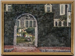 Jack Eastman Brown (American, 1922-2000)      Through the Garden Arch, The Chanticleer Restaurant, Nantucket