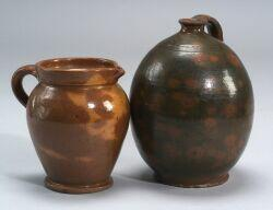 Redware Pitcher and Jug