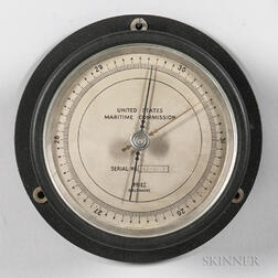 United States Maritime Commission Aneroid Wall Barometer