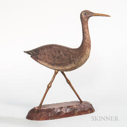 Carved and Painted Shorebird Figure
