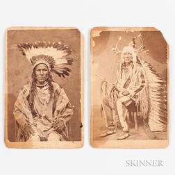 Two D.F. Barry Native American Cabinet Cards