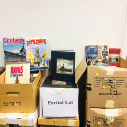 Nine Boxes of Mostly 20th Century Warfare Books