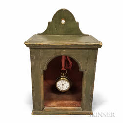 Green-painted Pine Watch Hutch and Universal Watch
