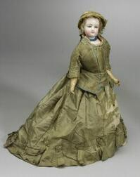 Bisque Swivel Neck French Lady Doll