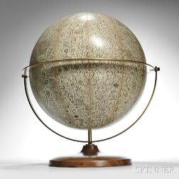 Denoyer-Geppert 16-inch Visual Relief Lunar Globe
