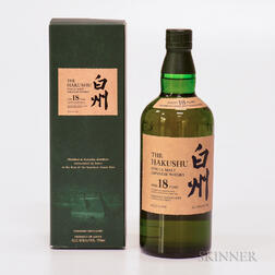 Hakushu 18 Years Old, 1 750ml bottle (oc)