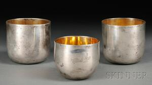 Three Sterling Silver Punch Cups