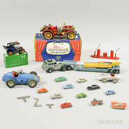 Sixteen Schuco Die-cast Metal Vehicles