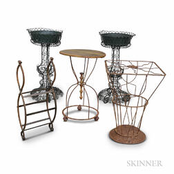 Five Pieces of Wirework Furniture.     Estimate $400-600