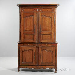 French Provincial Fruitwood Cupboard