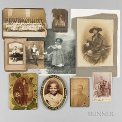 Ten Photographs and a Print Depicting African Americans