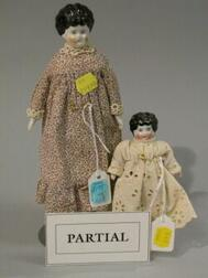 Six Small China and Bisque Head Dolls