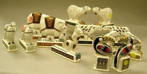 Thirteen Wedgwood Porcelain Noah's Ark Animal Figures